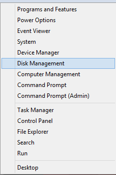 How to access Disk Management in Windows 8