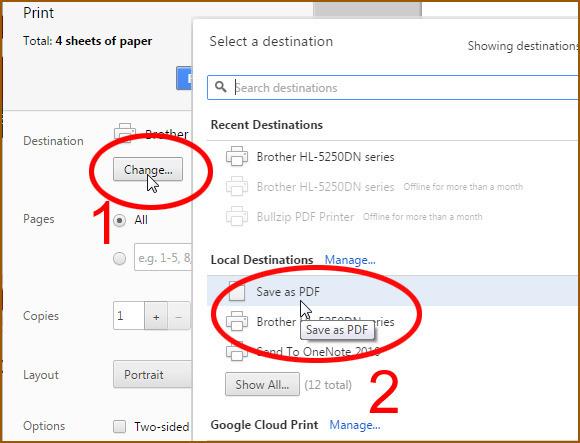 save web to pdf