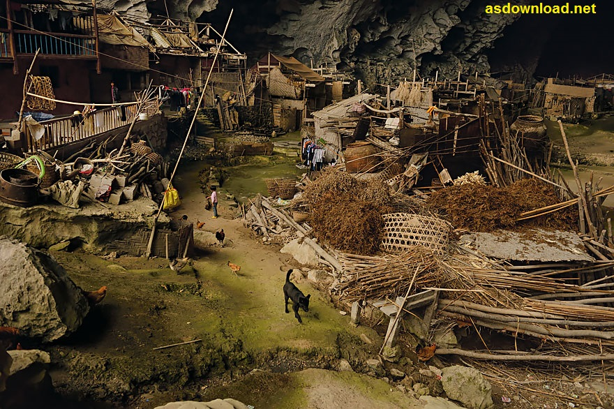 Zhongdong village in Cave - china (4)