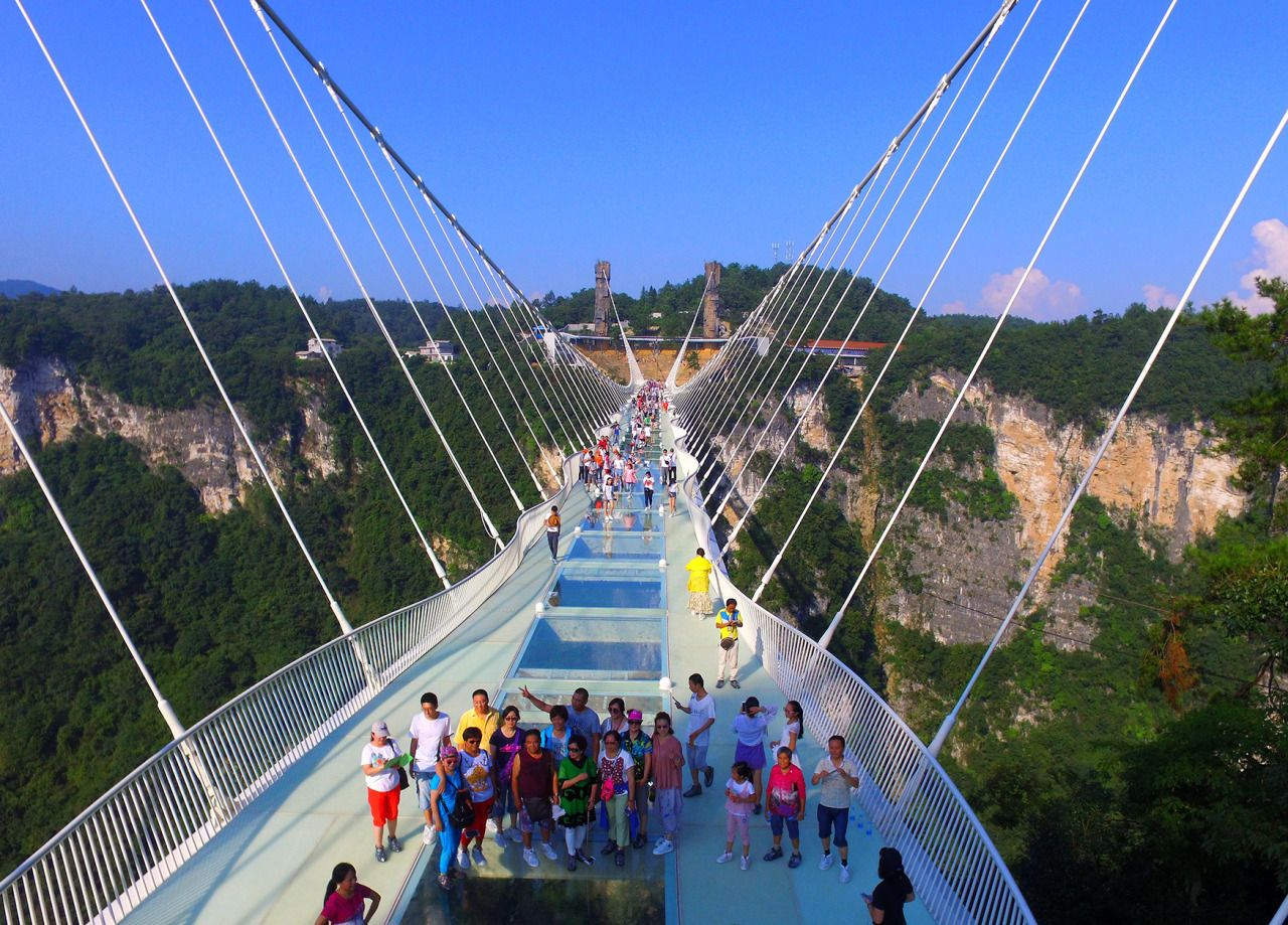 glass bridge china mountain Zhangjiajie (5)