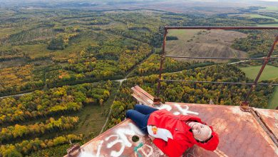 Photo of کار کردن در ارتفاع 350 متر بر روی دکل مخابرات