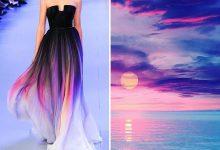 Photo of مدل و طبیعت : طراحی لباس به رنگ طبیعت