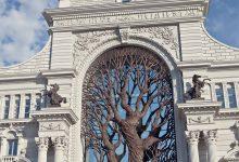 Photo of درخت آهنی بر در وزارت کشاورزی روسیه