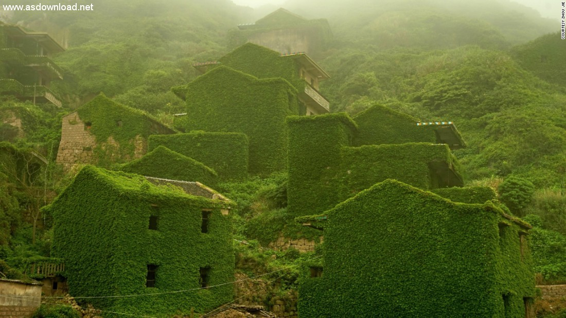 abandoned chinese village ivy vines (3)
