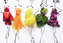 Photo of طراحی مدل لباس با مواد غذایی
