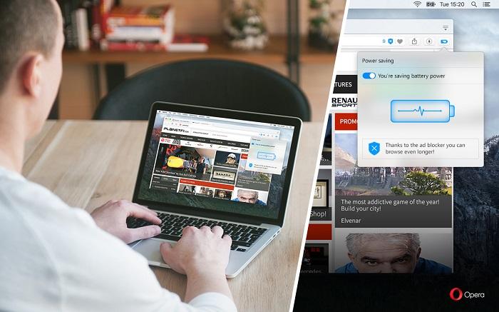 کاهش مصرف باطری لپ تاپ تا 50 درصد با نسخه جدید اپرا - Opera-Battery-Saving