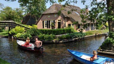 Photo of عکس های فوق العاده زیبا از دهکده بدون جاده و خیابان- ونیز هلند