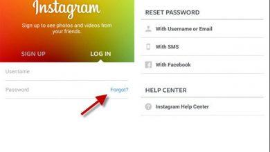 آموزش بازیابی رمز عبور اینستاگرامForgot password Instagram