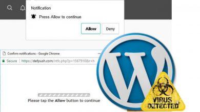 Photo of حذف بدافزار deloton و defpush از سایت های وردپرس