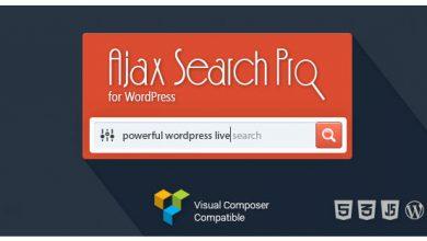 Photo of دانلود رایگان افزونه جست جوی پیشرفته Ajax Search Pro v4.13