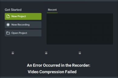 Photo of حل مشکل An Error Occurred in the Recorder: Video Compression Failed در نرم افزار Camtasia