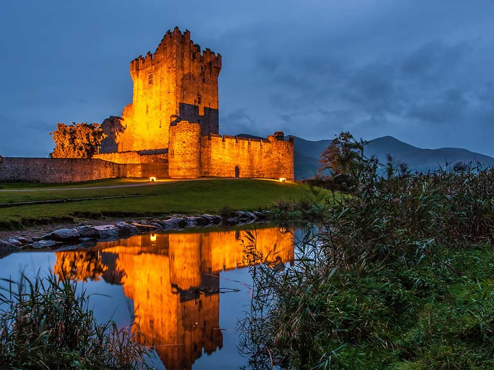 Magnificent Ross Castle in the twilight