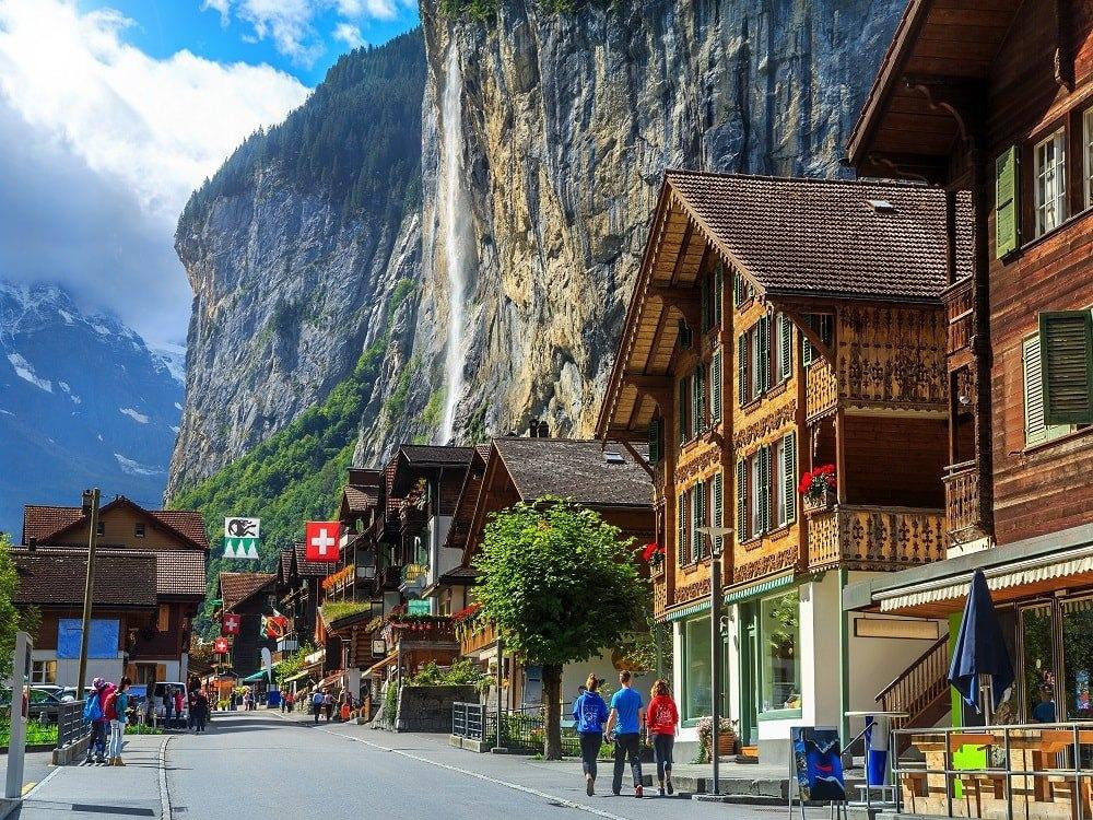 دره Lauterbrunnen ، سوئیس