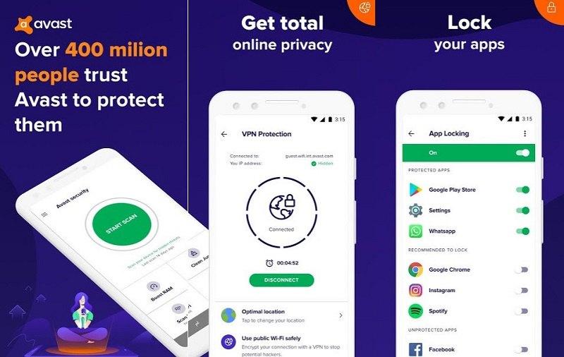 10 بهترین آنتی ویروس برتر اندروید Avast-Antivirus-–-Mobile-Security-Virus-Cleaner