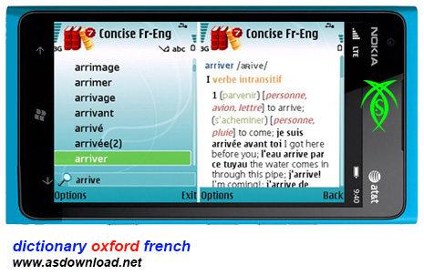 dictionary oxford french دیکشنری فرانسوی به انگلیسی آکسفورد برای موبایلConciseOxfordFrench v2 0