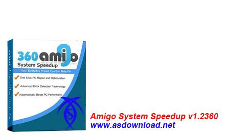 دانلود نرم افزار  بهینه سازی و افزایش سرعت ویندوز – ۳۶۰Amigo System Speedup v1.2