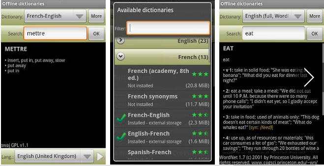 Offline dictionaries APK