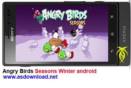 دانلود بازی Angry Birds برای موبایل-نسخه زمستانی