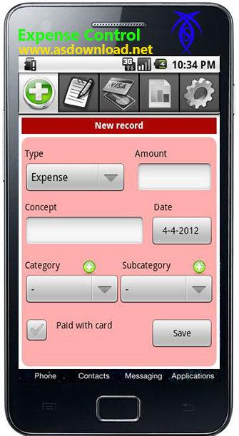 دانلود نرم افزار کنترل مخارج و هزینه ها برای گوشی آندروید