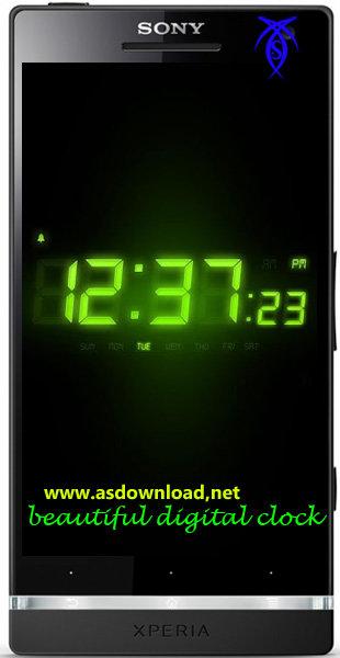دانلود نرم افزار نمایش ساعت دیجیتالی برای موبایل