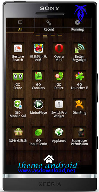 wood theme android