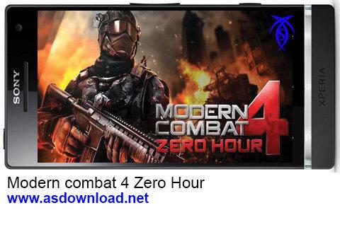 دانلود بازی Modern combat 4 Zero Hour برای آندروید- بازی آندروید