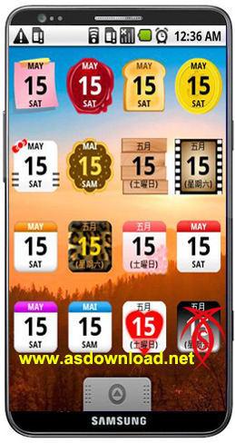 دانلود ویدجت تقویم برای آندروید Calendar Widget android