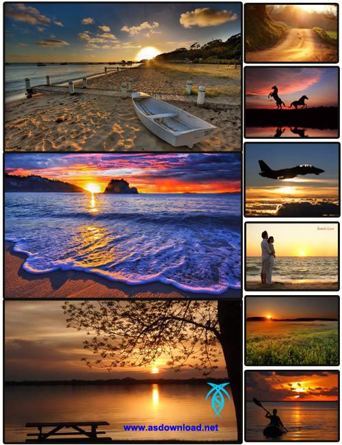 تصاویر زیبا از غروب آفتاب-دانلود عکس