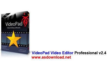 دانلود نرم افزار ویرایش فیلم- VideoPad Video Editor Professional v2.41
