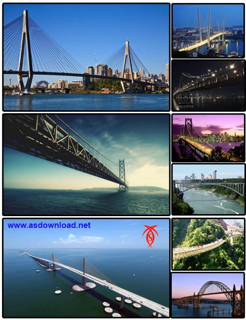 دانلود والپیپر از عجیب ترین و بزرگترین پل های جهان-عکس پل