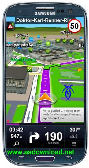 دانلود نرم افزار gps برای آندروید – Sygic GPS Navigation
