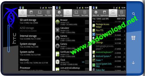 دانلود نرم افزار نمایش اطلاعات کامل گوشی آندروید Quick System Info PRO v2.1.4