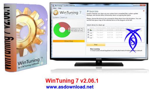 دانلود نرم افزار افزایش سرعت ویندوز 7 – WinTuning 7 v2.06.1
