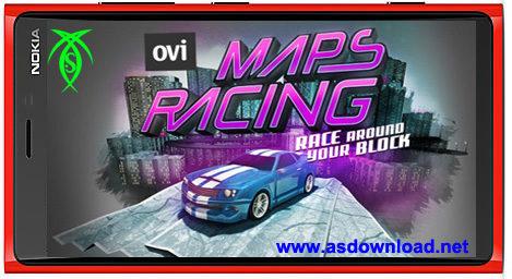 دانلود بازی مسابقه Ovi Maps Car Racing برای نوکیا ورژن 5