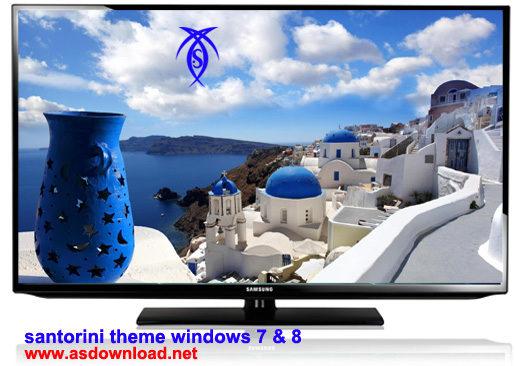 دانلود تم Santorini برای ویندوز 8