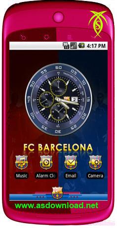 دانلود تم بارسلون برای آندروید- Android Barcelona theme