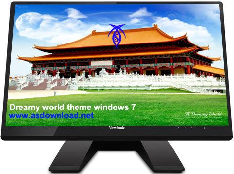 دانلود تم دنیای رویایی برای ویندوز 7 –  windows 7 theme Dreamy World