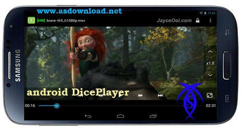 دانلود نرم افزار پخش فیلم DicePlayer برای آندروید