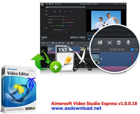 دانلود نرم افزار ویرایش انواع فیلم - Aimersoft Video Studio Express v1.0.0.18