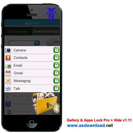 دانلود Gallery & Apps Lock Pro + Hide v1.11 - نرم افزار قفل گذاری بر روی تمامی برنامه های آندروید