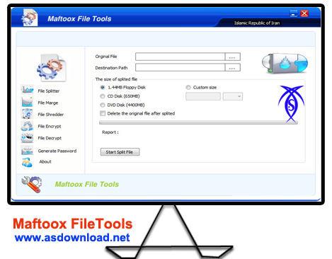 دانلود نرم افزار حذف اطلاعات برای همیشه - Maftoox FileTools