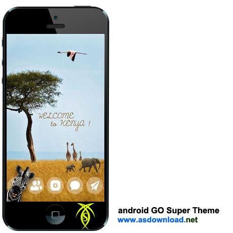 دانلود سوپر تم برای آندروید – Android GO Super Theme