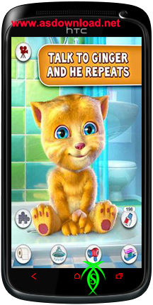 دانلود بازی محبوب صحبت کردن زنجبیل برای آندروید android Talking Ginger