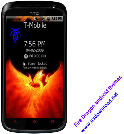 android themes dragon fire