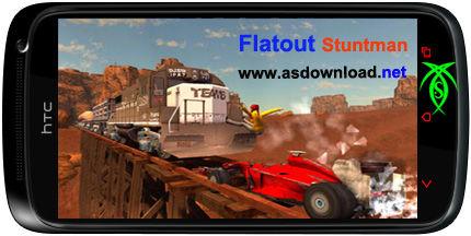 بازی مسابقه و بدلکاری برای آندروید - دانلود Flatout  Stuntman