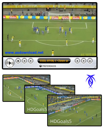 video football Italy vs Brazil 2-4