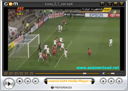 video football iran and korea