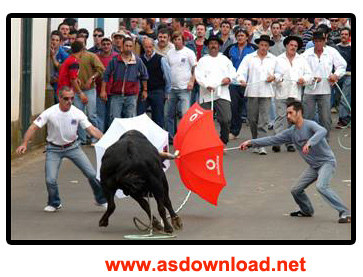 دانلود کلیپ مسابقات گاوبازی در خیابان های اسپانیا- Bullfighting Spain Bull on the Streets
