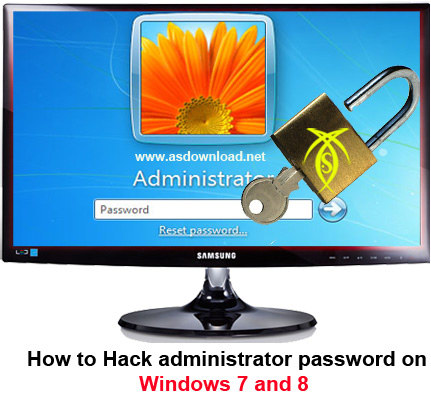 Hack administrator password windows 7