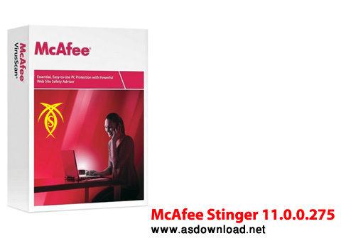 McAfee Stinger 11.0.0.275 دانلود آنتی ویروس کم حجم برای سیستم های قدیمی  McAfee Stinger 11.0.0.275